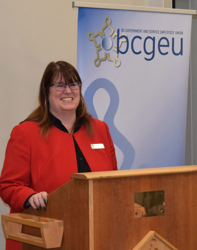 BCGEU president Stephanie Smith
