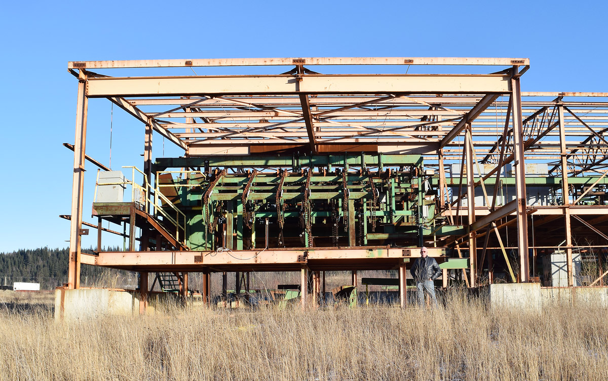 John Brink outside his partially built sawmill in the BCR Industrial Site. Bill Phillips photo