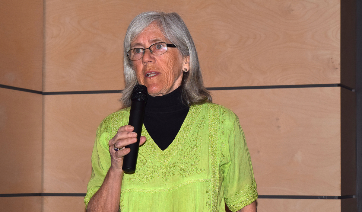 Prince George-Mackenzie Green Party candidate Hilary Crowley at the ICBA forum Tuesday. Bill Phillips photo
