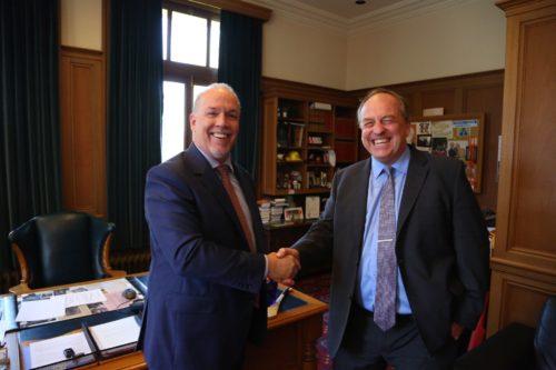 Horgan, Weaver accuse Clark of stalling transition