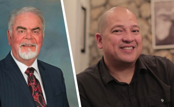 Roy J. Stewart and Fredy Peccerelli will receive honorary degrees at UNBC's Convocation ceremonies in Prince George on May 26. UNBC photo