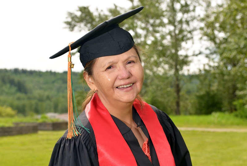 Carla Alphonse travelled a long distance to earn her First Nations Language Certificate in Tsilhqot'in. UNBC photo