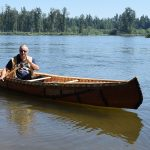 It floats. Marcel Labelle goes for a paddle on the Necako River. Bill Phillips photo