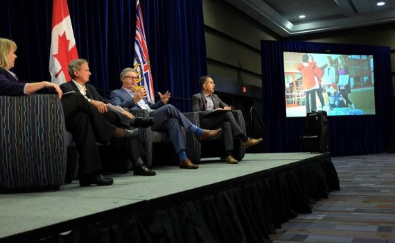 "At the Union of BC Municipalities convention today in Vancouver, Mayor Lyn Hall was joined by Mayor Colin Basran of Kelowna and Al Richmond, Chair of the Cariboo Regional District, for a panel discussion on ""leading in times of crisis."" The session had roughly 400 people in attendance and focused on local government leadership during the Cariboo wildfires this past summer and the flooding in the southern interior in the spring. City of Prince George photo"
