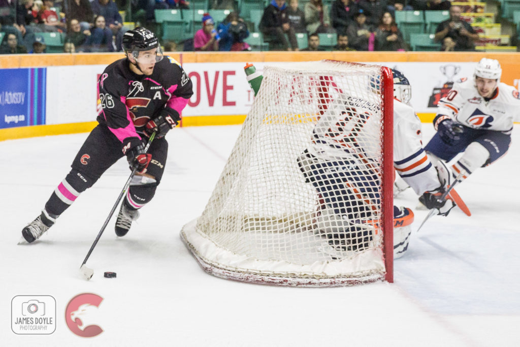 The Prince George Cougars lost to the Kamloops Blazers Friday night. James Doyle photo