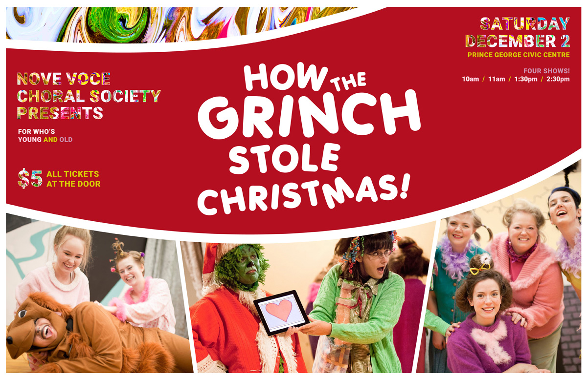 Nove Voce brings the Grinch to life