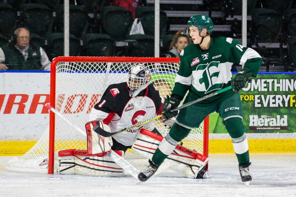 Everett Silvertips versus the Prince George Cougars on Friday, Nov. 3, 2017 at Xfinity Arena in Everett, Washington. (Chris Mast/Everett Silvertips)