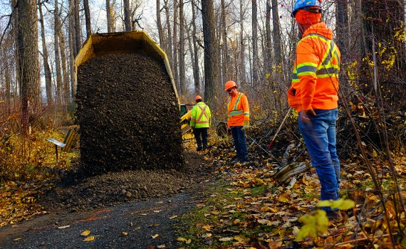 Trail rehabilitation activities were recently completed at Cottonwood Island Nature Park to mitigate some of the effects of flooding in low-lying areas of the Park. An open house is being held at the Library on Thursday to discuss possible future rehabilitation operations for the Park and a portion of the Heritage River Trail system nearby. City of Prince George photo