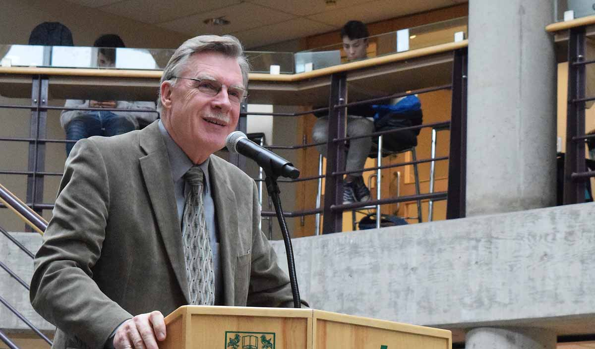 Dr. Albert Koehler, who has been advocating for engineering programs at UNBC for 10 years, is pleased that the university will now offer an undergraduate engineering program. Bill Phillips photo