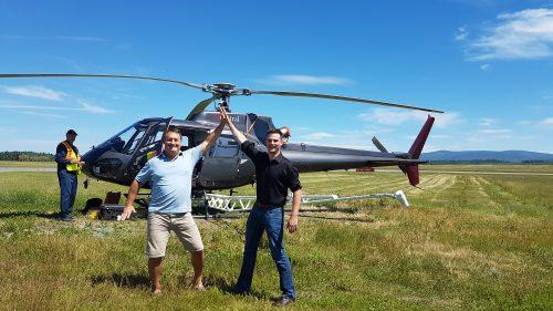 Bruce Madu (Geoscience BC) and Joel Mackay (NDIT). Richard Truman pohoto (Geoscience BC)