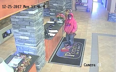 Video surveillance photo of would-be robber in Chetwynd.