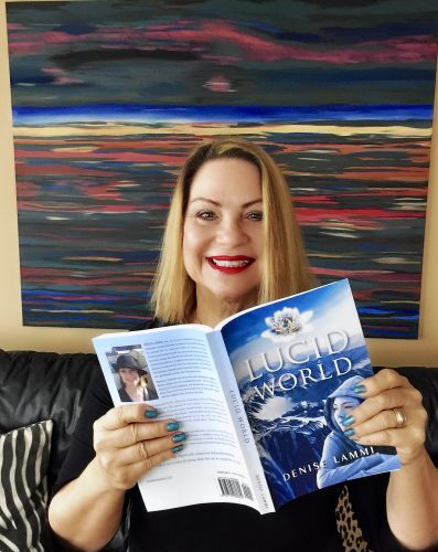 Author Denise Lammi with her new book Lucid World.