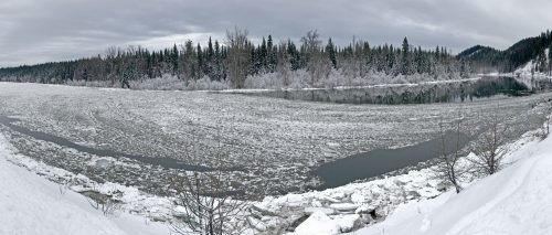 Ice on the Nechako River. City of Prince George photo