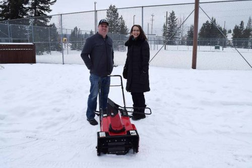 Cycle North helps community associations with snowblowers