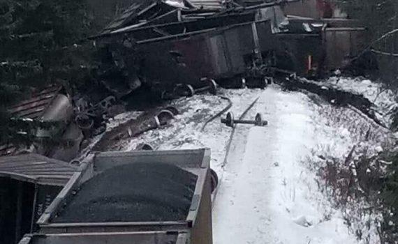 CN coal train derailment near South Hazelton. Skeena Watershed Conservation Alliance Facebook photo