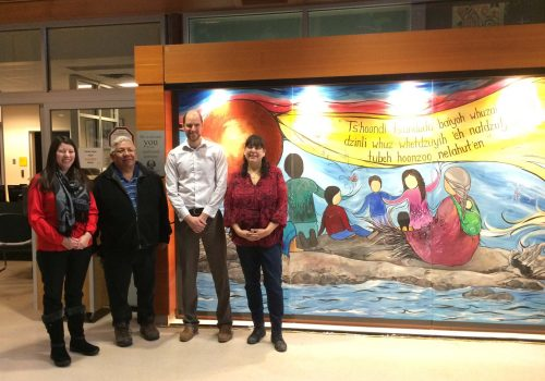 Art work welcomes UHNBC visitors in Carrier
