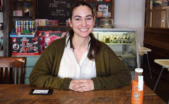 Rhea Simpson of Col Juicery, a local start up that has moved into the Northern Sport Centre. Bill Phillips photo