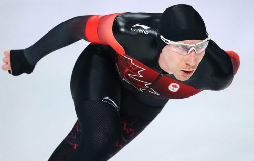 Ted-Jan Bloeman of Canada wins the Gold medal in the Men's 10000m Final at the Gangneung Oval during the PyeongChang 2018 Olympic Winter Games in Gangneung, South Korea on February 15, 2018. (Photo by Vaughn Ridley/COC)