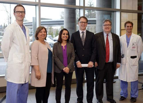 Health Minister Adrian Dix announces 37,000 more magnetic resonance imaging (MRI) exams will be done throughout the province by the end of March 2019, compared to the previous year. Province of B.C. photo