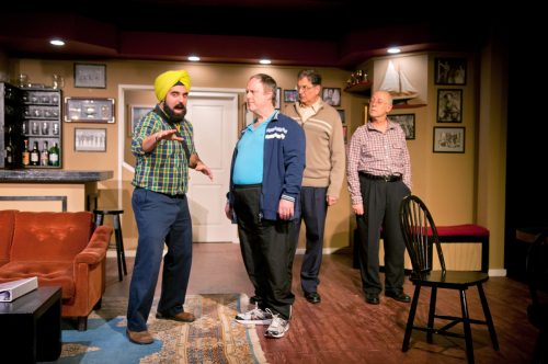 The cast of The Fabulous Lipitones Matt Lacas, Gordon Roberts, Stephen Aberle, and David Talbot. Photo Memories by Moira.