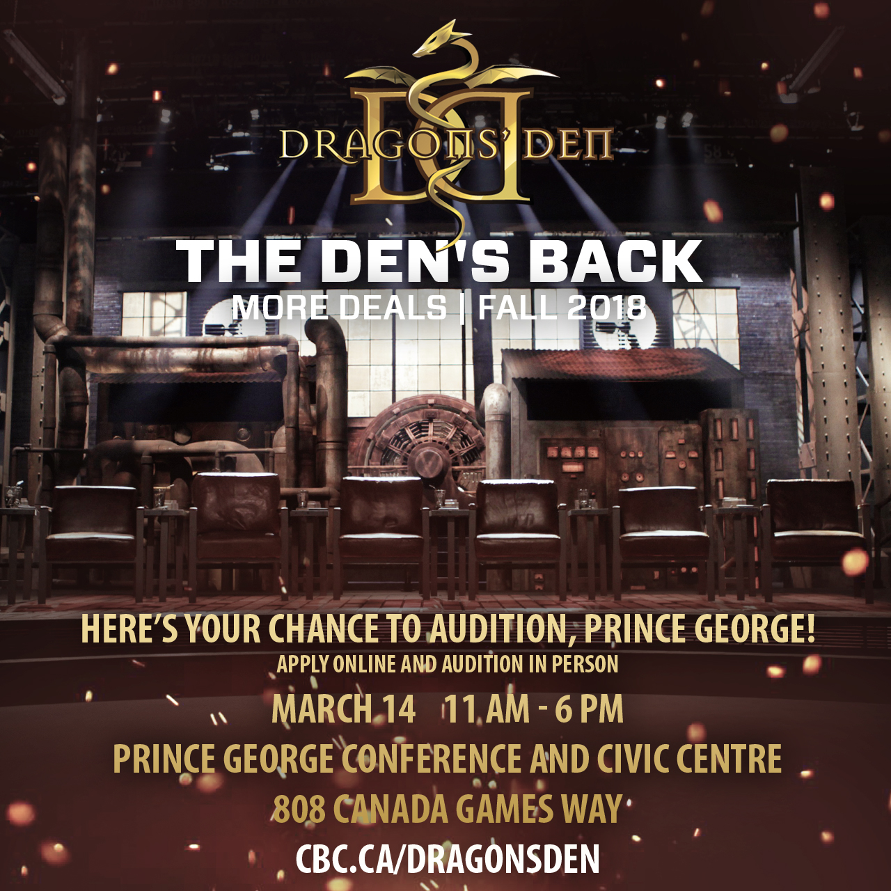 Dragon's Den auditions here March 14 – Prince George Daily News