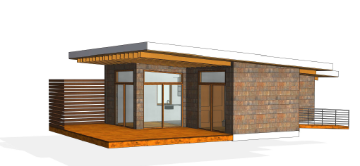 Sketch of an Honour House cabin.