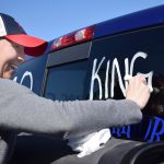 Spruce Kings billet parent Mystee McKay gets ready to send the Spruce Kings off to Wenatchee. Bill Phillips photo