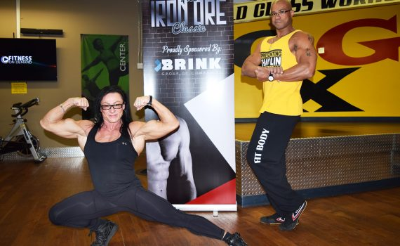 Bodybuilders Dawn Alison and Brandon Best are the guest poser at the Iron Ore Classic September 22 in Vanier Hall. Bill Phillips photo
