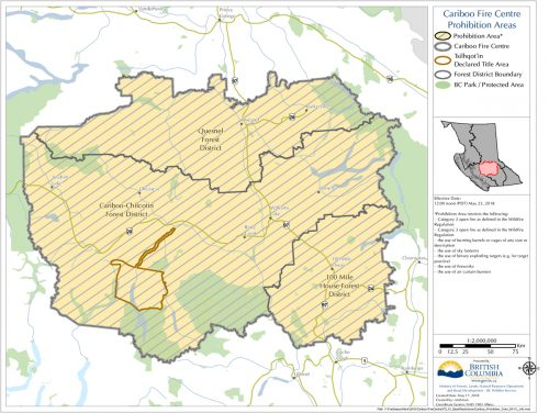 Open burning restricted in Cariboo Fire Centre area