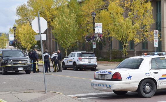 The provincial courthouse was evacuated shortly before noon Monday. Police say there was a concern for the safety of persons in the building, therefore the building was evacuated. The situation has been resolved by police and the building will be reopened at 2:30 p.m. Bill Phillips photo