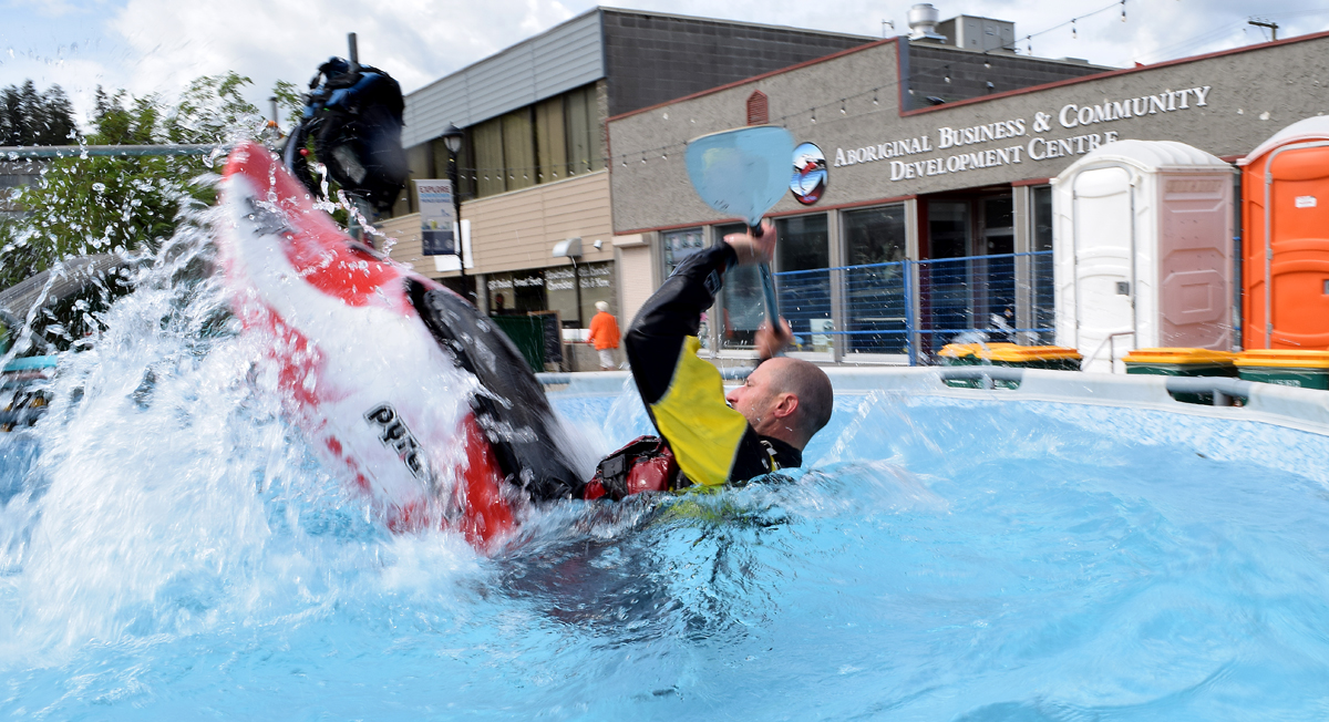 There was all kinds of activities and booths set up at the Crossroads Street Festival Saturday, including a kayaking demonstration. Bill Phillips photo