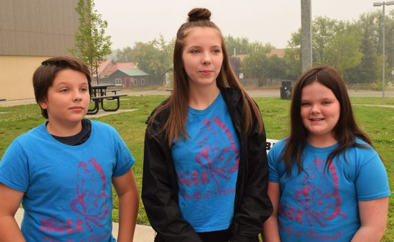 Siblings Michael Styler, (left) Kiara Jungar, and Sarah Styler will be part of the Little Diller's team at this year's Inside Ride, raising money to send kids with cancer to Camp Good Times. Bill Phillips photo