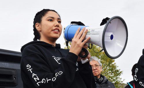 March organizer Cheyenne MacDonald. Bill Phillips photo