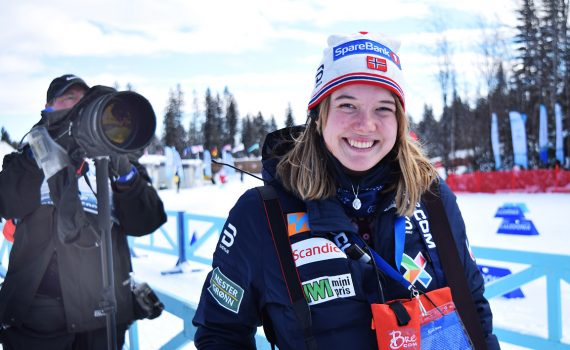Katrine Baldishol, a journalist from Norway, is in Prince George covering the 2019 World Para Nordic Skiing Championships for the Norwegian Ski Federation and her stories will be shared with media outlets in Norway. She is obviously enjoying her time here in Prince George. Bill Phillips photo