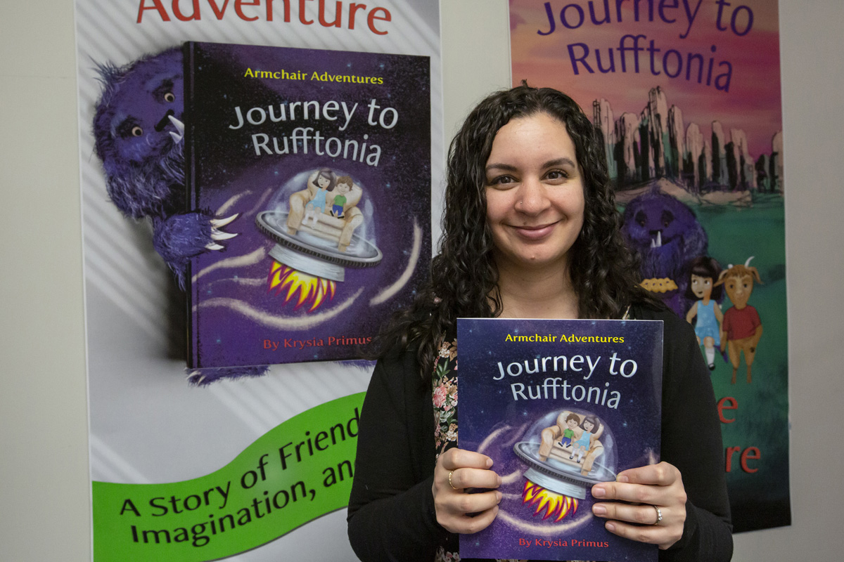 CNC Web and Graphic Design (WEGD) student Kyrsia Primus is showcasing her original children's book, Armchair Adventures: Journey to Rufftonia, at a Year-End Design Showcase on April 26, 2019. The show, which features work from all second year WEGD students, takes place at the Elks Hall, 663 Douglas Street, on April 27 with a drop-in session from 10 a.m. to 5 p.m. before the show's main event at 7 p.m.