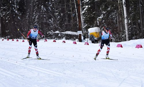 Photo-finish for Canadian pair
