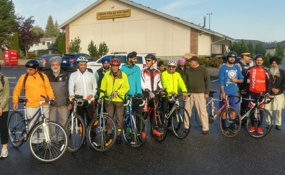 The ninth annual Bike-A-Thon sponsored by the Punjabi Canadian Senior Society departed from the Guru Nanak Darbar Sikh Temple at 9 a.m. this morning en route to Purden Lake. Since 2010, the Bike-A-Thon has raised nearly $112,000 to support healthcare initiatives in northern B.C. through Spirit of the North Healthcare Foundation. This year's amount raised has not been determined yet. Over the years they have supported our areas of greatest need, including the regional cardiac campaign, Optos OCT-SLO for the eye clinic, and Spect CT Scanner. This year's Bike-A-Thon will support Spirit of the North's current campaign to raise funds for a dedicated maternal operating room at the University Hospital of Northern BC. Spirit of the North Healthcare Foundation photo