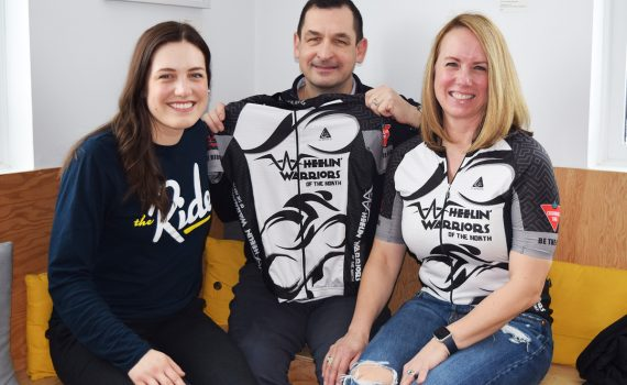 Wheelin' Warriors of the North Team Seiter Ð Haylee (left), Dan, and Tracy Ð are getting ready for the Ride to Conquer Cancer in August. Bill Phillips photo