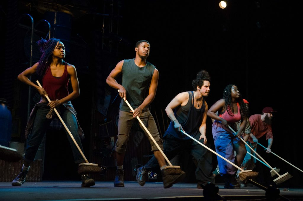 Stomp put on a great show at CN Centre Monday night. The crowd was into the performance and the performers didn't disappoint. Jim VanderPloeg photo