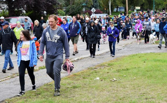 An excellent turnout for the annual Terry Fox Run in Prince George Sunday morning. The rain held off and hundreds of people showed up for the event. Bill Phillips photo