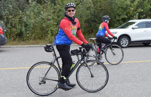 Dave Dickson from Williams Lake gets ready to embark on his seventh Cops of Cancer Tour de North. Bill Phillips photo