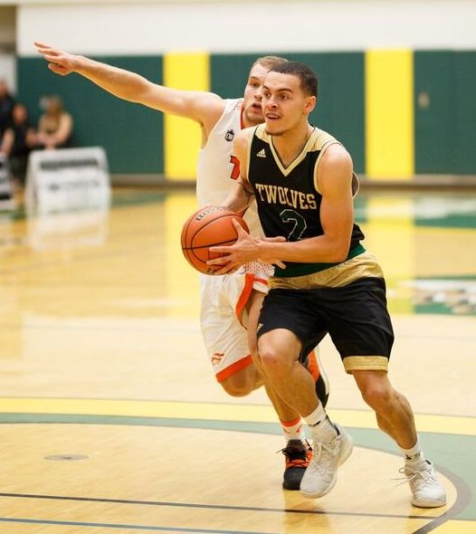 Tyrell Laing made seven three-pointers, scoring 25 points as @UNBCBasketball beat @UofABearsBball 81-70 Saturday. Twitter photo