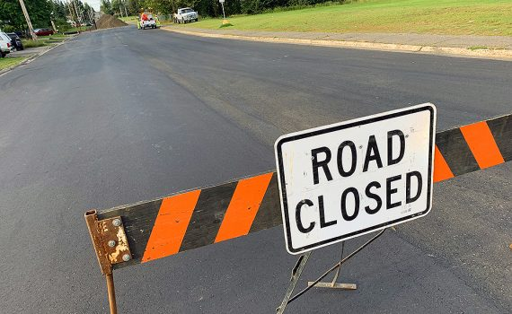 Victoria Street is completely closed to traffic for about half a block south of Milburn Avenue as crews work to repair a broken culvert. City of Prince George photo
