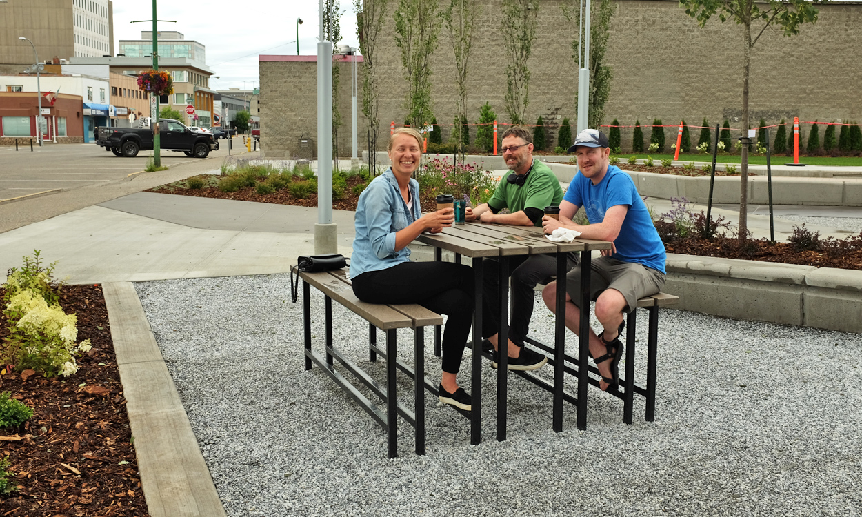 Wood Innovation Square Now In Downtown Prince George Prince George