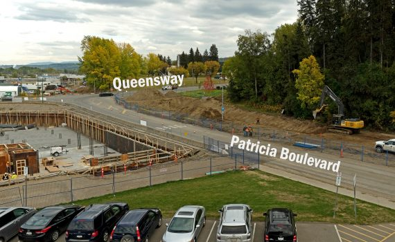 Starting tonight, Patricia Boulevard will be closed from the intersection with Queensway to the entrance of City Hall.