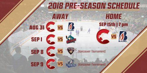 Cougars release pre-season schedule