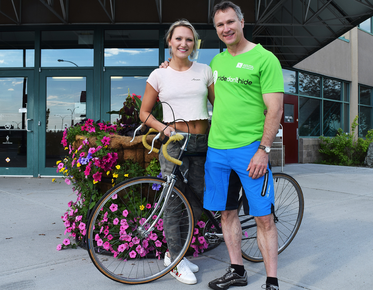 Brookly Derksen and her father Antony are big supporters of the Ride Don't Hide event this Sunday. Antony will doing a 50-kilometre cycle trek for the event. Bill Phillips photo