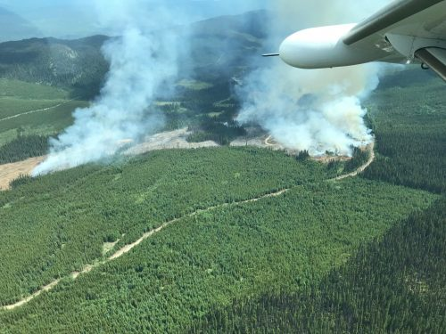 Lightning sparked 72 wildfires in northern B.C. Wednesday