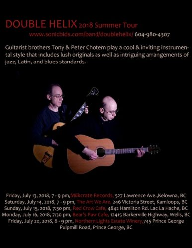 Jazz duo Double Helix to perform at Northern Lights Estate Winery