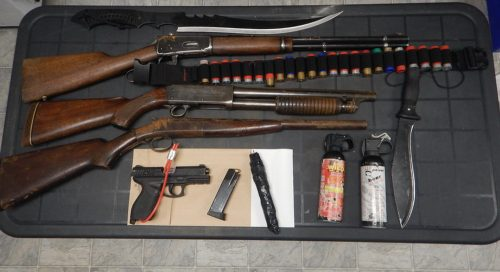 Weapons seized after Dawson Creek RCMP notice stolen truck